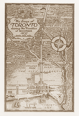 Map of Toronto 1837 showing Potter's Field