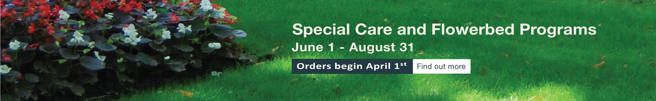 Special Care and Flower Bed Programs 2018
